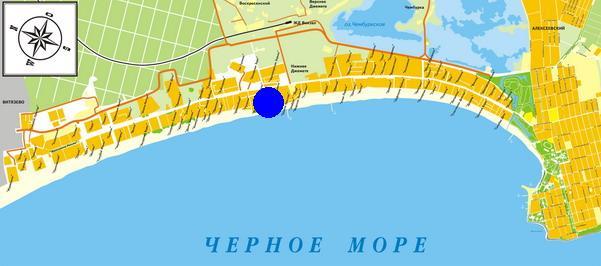 Карта-схема Пионерского проспекта